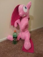 Giant crazy pinkie pie plush by RaveSolid13