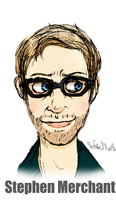 Stephen Merchant once again by Invader-Zimie