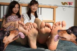 Two asian girls getting their barefeet licked  by UzumakiRiki