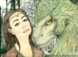 Arya and Firnen by hecalledmebaby