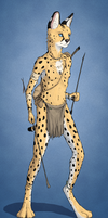 Character Concept #3 (Serval Hunter) by TitusW
