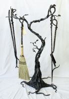 fireplace toolset by artistladysmith