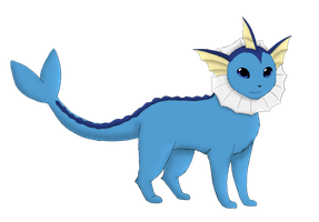 Ren the Vaporeon by MiaMaha