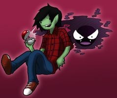 Marshall Lee, Pokemon Trainer by Nzabob