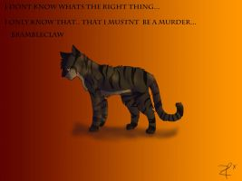 Brambleclaw-The right thing ? by Espenfluss