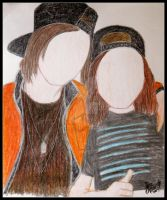 Sketch - Kellin Quinn and Vic Fuentes by fussy-beaver