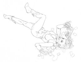 Harley Quinn: BTM pencils by TheRogueSPiDER