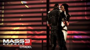 Miranda and Shepard ME3 Citadel 02 by Cain69