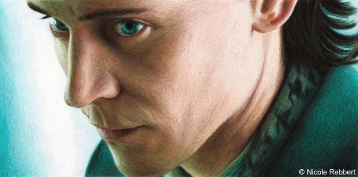 Loki - God of Mischief (colour pencils) by Quelchii