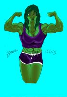 She Hulk Sketch Colored by fmvra1s