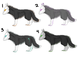 Masked Canine Adoptables by Tooel