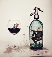 . In the bottle . by Kan-Ryukai