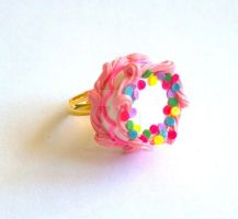 Pink Birthday Cake Ring by FatallyFeminine