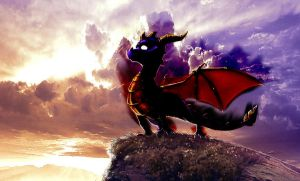 Dark Spyro by xXIlRizzoXx