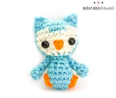 Blue Tiny Owl Plush by adorablykawaii