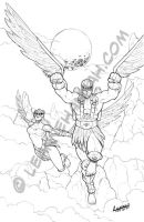 Stratos and Hawk by stratosmacca