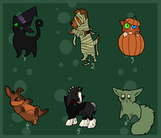 Halloween Adopts - OPEN by Aquaflame-Adopts