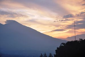 sunset in Mt.Salak by MonZ88