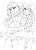 Art Trade: Sailor Asta and Sailor Deva by TenshiNeera