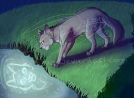 GreystripexSilverstream - Reflection - Speedpaint! by Espenfluss