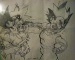 Goku J vs Vegeta junior by Angy89