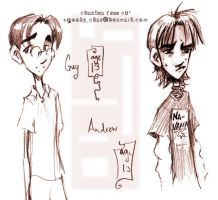 Guy and Andrew as kids sketch by SpookyChan