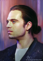 Sebastian Stan with a manbun by cinetrix
