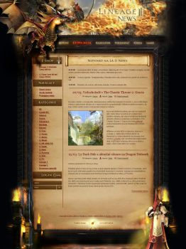 Lineage II website design by luqa