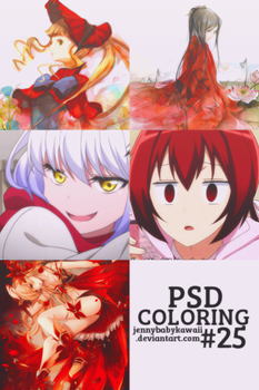 [PSD] PSD coloring #25 by JennyBabyKawaii