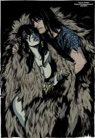 Conan and Belit colored by Doug Garbark by DougGarbark