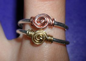 Spiral rings by Iglybo