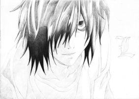 In progress.. L (Death Note) [3] by DesignerMF