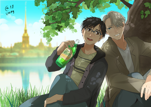 Victor and Yuuri by Autumn-Sacura