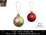 Christmas baubles by TinaLouiseUk