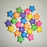 Large Rainbow Foil Print Stars by CelticKnot003