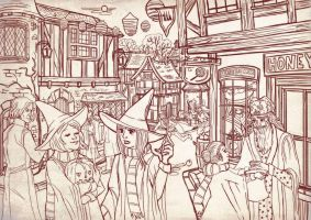 halloween at Hogsmeade by audreymolinatti