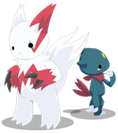 PKMN: Zangoose and Sneasel by Xeohelios