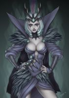 Ravenborn Leblanc (LoL fanart) by essentialsquid