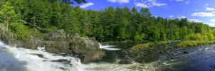Panoramic Monte-a-Peine Waterfall HDR by digswolf