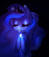 Precious little moon by Crowik