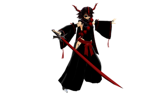 MMD Shura the oni of CARNAGE by Clonesaiga