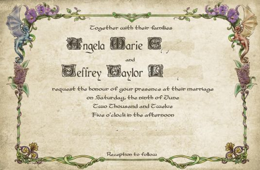 A Fantastical Wedding Invitation by shido-burrito