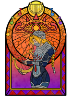 Sheik stained glass by Know-Kname