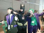 Batman Beats the Joker and Riddler at ACen 2013. by BatmanFargo93