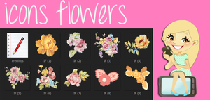 icons flowers by tutorialslucy