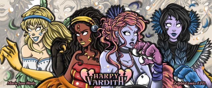 Harpy Vardith Banner by MarieJaneWorks