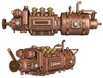 Steampunk Engine by Roy3D