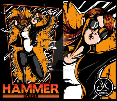Hammer girl by djankrixz