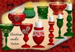 Christmas candles by roula33
