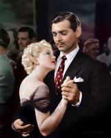 Clark Gable and Lana Turner in Honky Tonk, 1941 by klimbims